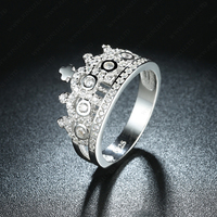Sterling silver ring crown wedding jewelry aaa stone cz 925 engagement rings