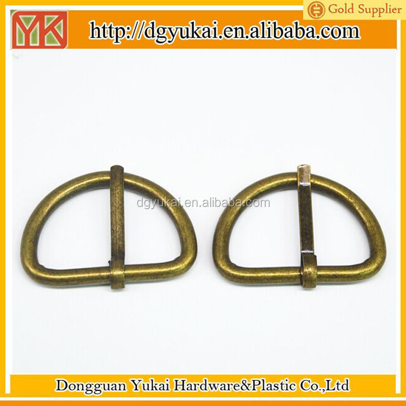"Yukai 1-1/4"" (32mm) Steel Heavy Dee Rings D-rings for Belts Luggage Straps in bronze color"