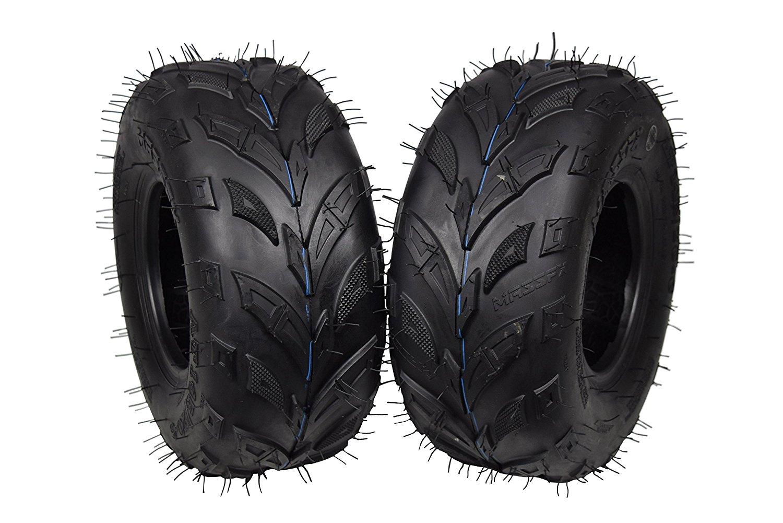 ATV Lawn Tires 145x70-6 145x70x6 Side Bite Tread 4 Set MASSFX MS 145//70-6 6Ply Go-Kart Mini Bike