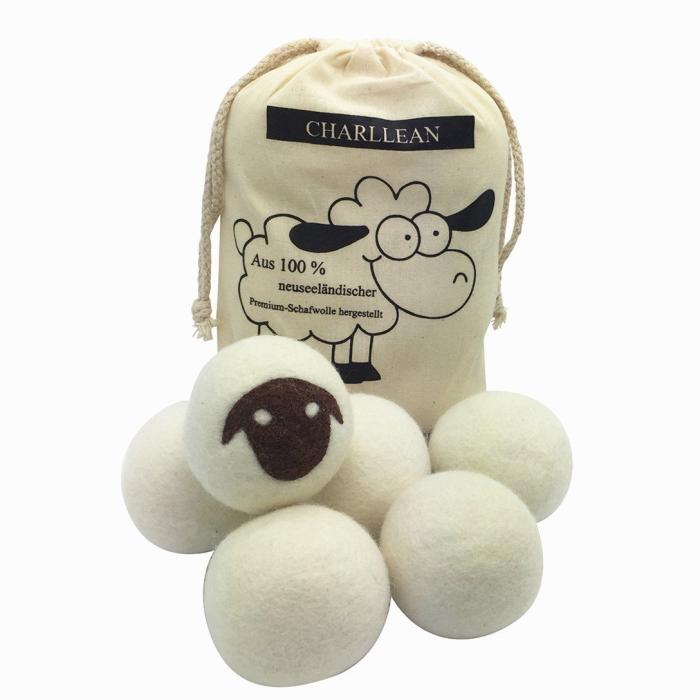 Sfere della lavanderia Asciugatrice XL Organici Realizzati A Mano di Lana Dryer Balls Lavanderia Chimico Libero, Inodore