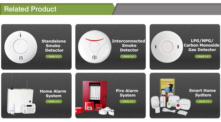 Home security Rivelatore di Fumo Fire Alarm/CO Monossido di Carbonio Sensori di Gas Monitor