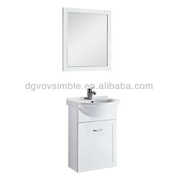 White Counter Wash Basin Wooden Bathroom Cabinet/mdf Mirror ...