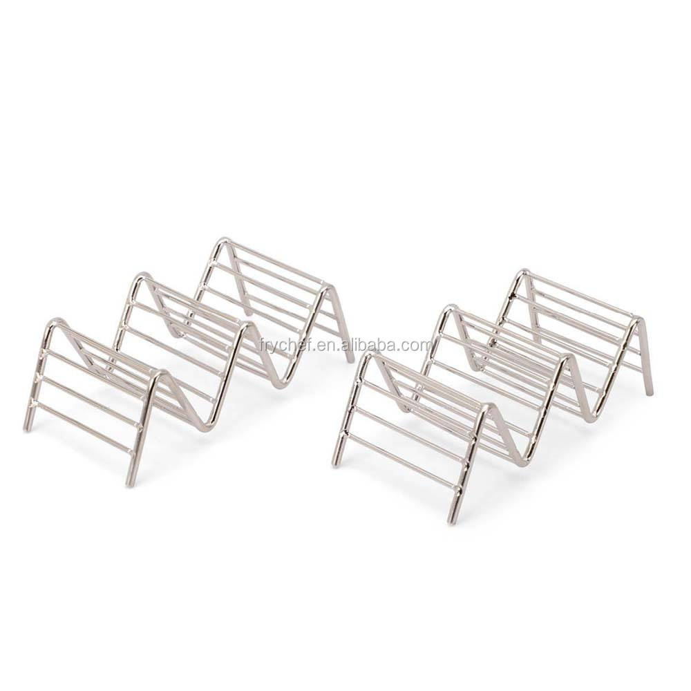 Langjie Taco Holder, Taco Rack, Taco Stand- Restaurant Style Server Rack, Each Stand Hold 2~3 Hard Shell Taco, 2 PCS In Pack