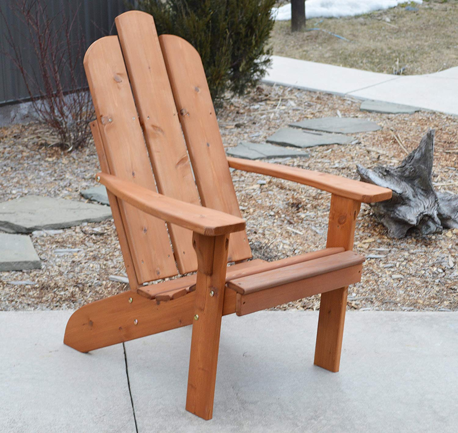 Get quotations · cedar wood adirondack chair amish made outdoor chairs weather resistant wooden patio deck and