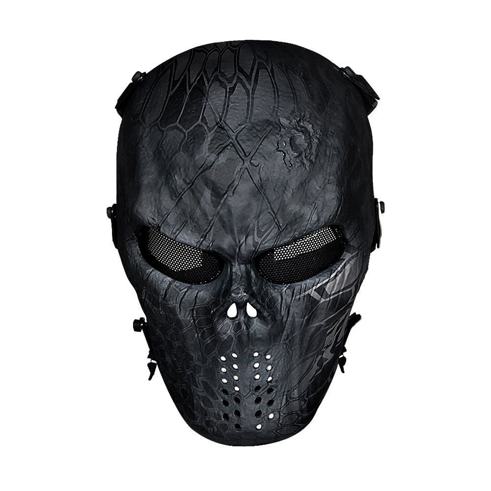 Buy Sportbike Airsoft Full Face Mask Paintball Motorcycle Skull Face Masks With Metal Mesh Eye Protection Ghost Tactical Outdoor In Cheap Price On Alibaba Com
