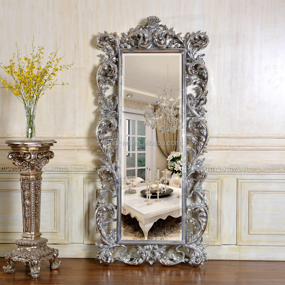 FA230 Antique European Style Baroque Room Decorative Full Length Big Framed Mirror