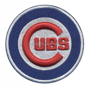 2017 Fashion decorative CUBS iron on patches customised
