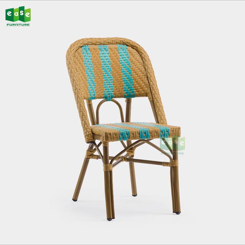 French Style All Weather Synthetic Rattan Woven Dining Room Chairs E3002