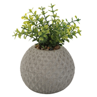 Flower Pots & Planters Ball Shape Cement Concrete Flower Pots With Decorative Pattern