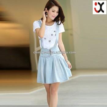 66ab0fff5c9 Korean Style Mini Skirt Beautiful Girls Summer Jean Dress (jxd26844 ...