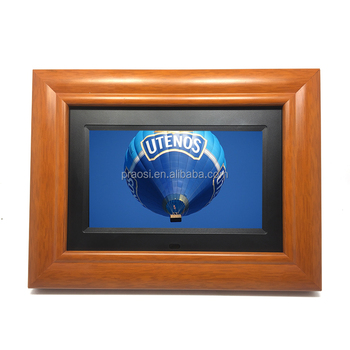 7 Inch 8 10 Wood Digital Photo Frame With Mp4 Hd Movies Free