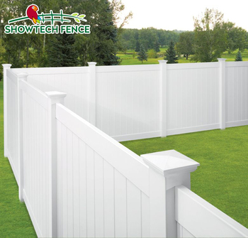 White Cheap Vinyl Garden Privacy Pvc Fence Chain Link