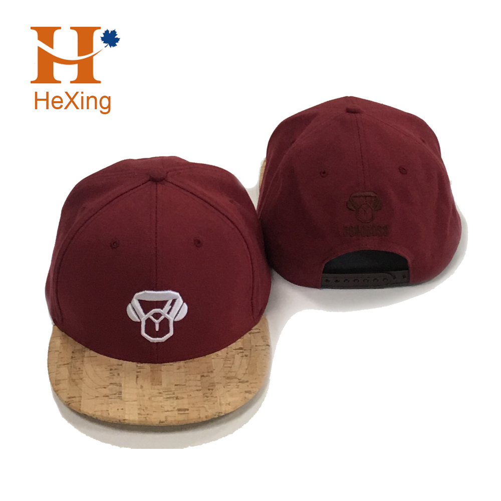 Stylish Cavas Cork Wood Brim Custom Cork Snapback Cap <strong>Hat</strong>