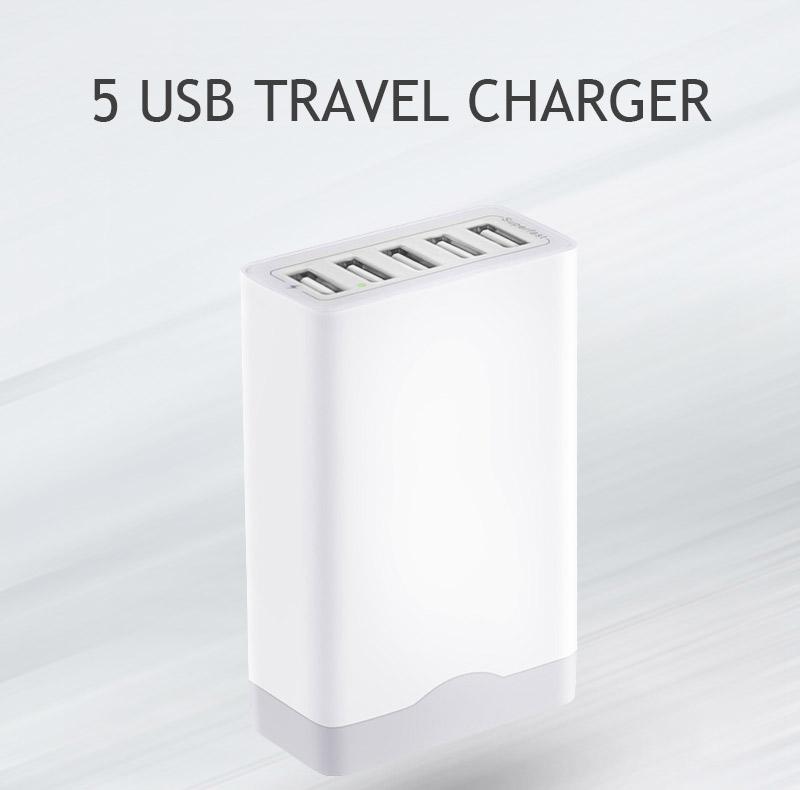Çin toptan 5 USB seyahat hızlı şarj 6a 8a çoklu şarj android tablet için