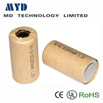 paper cover nicd batteries sc 1.2v 2200mah power tool battery