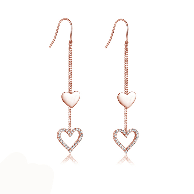 FZA-A62B Long Drop Earring With Rose Gold Color Trendy Jewelry
