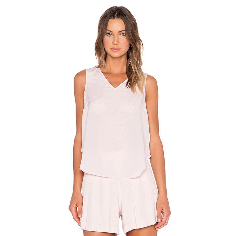 6680f3f5196 Заводская цена Кружева майка жилет v-образным вырезом футболка без рукавов  блузки для женщин