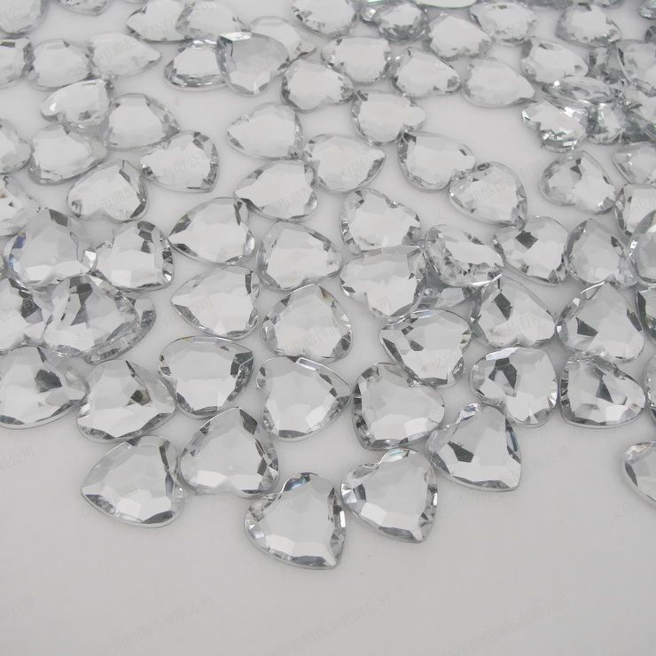 heart shape acrylic diamond, acrylic confetti decoration