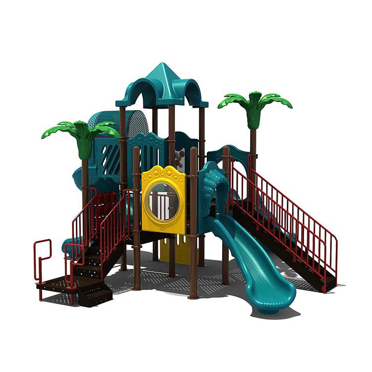 Qitele residenziale di plastica a buon mercato coperta per bambini all'aperto attrezzature per parchi giochi