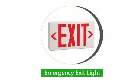Led Emergency Light Inverter Charging Photoluminescent Exit Sign