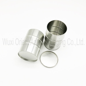 Promotional gift cans tin box with beading for auto parts