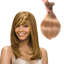 Naturehere 7A Colored 27# Honey Blonde Brazilian Hair Weave Accept Paypal Pure Natural Color 10 To 24 Inch