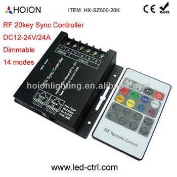 dc12 24v 24a led strip rf 20 key rgb controller sync controllerdc12 24v 24a led strip rf 20 key rgb controller sync controller view larger image