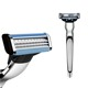 Sharpenable razor Three blade imported Stainless Steel razor Mens razor for wholesale