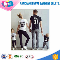 Wholesale printed family t-shirt o-neck printed parent-child clothing custom printing couple t-shirt