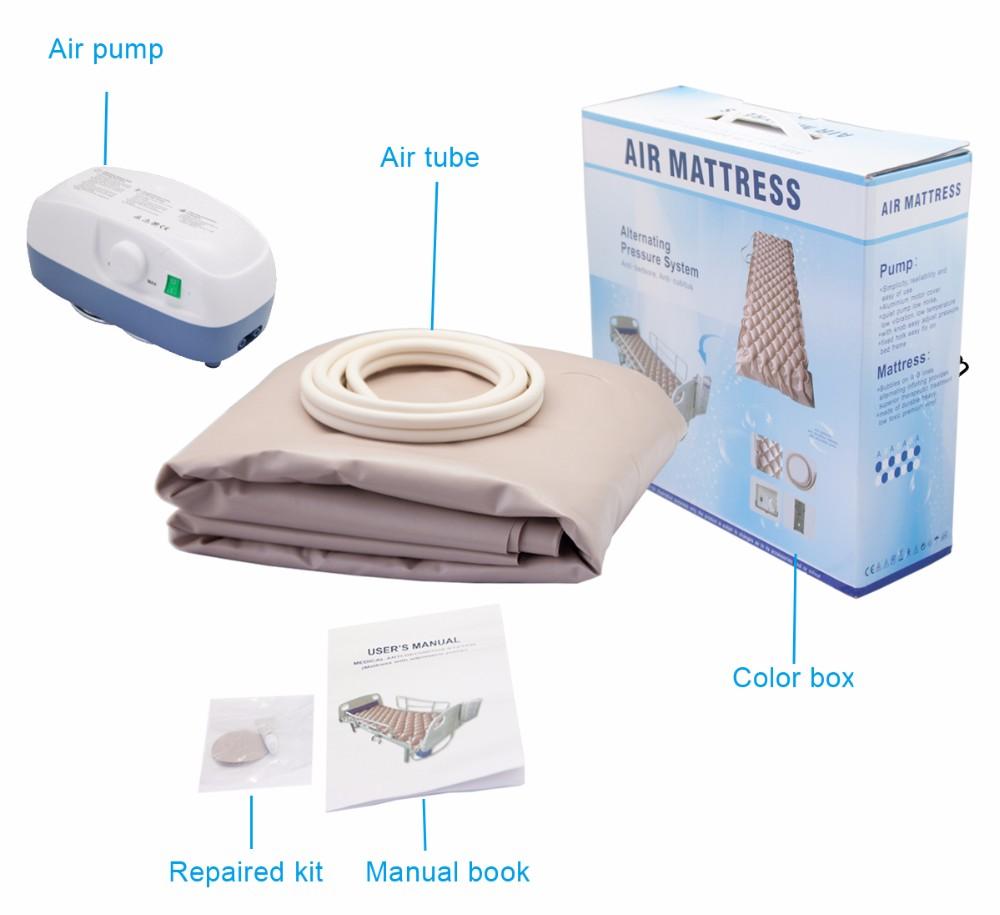 Şişme kauçuk kabarcık dalgalanma anti bedsore hava yatağı