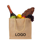 Cheap Wholesale Portable reusable recyclable custom logo printed hemp canvas lunch jute tote bag