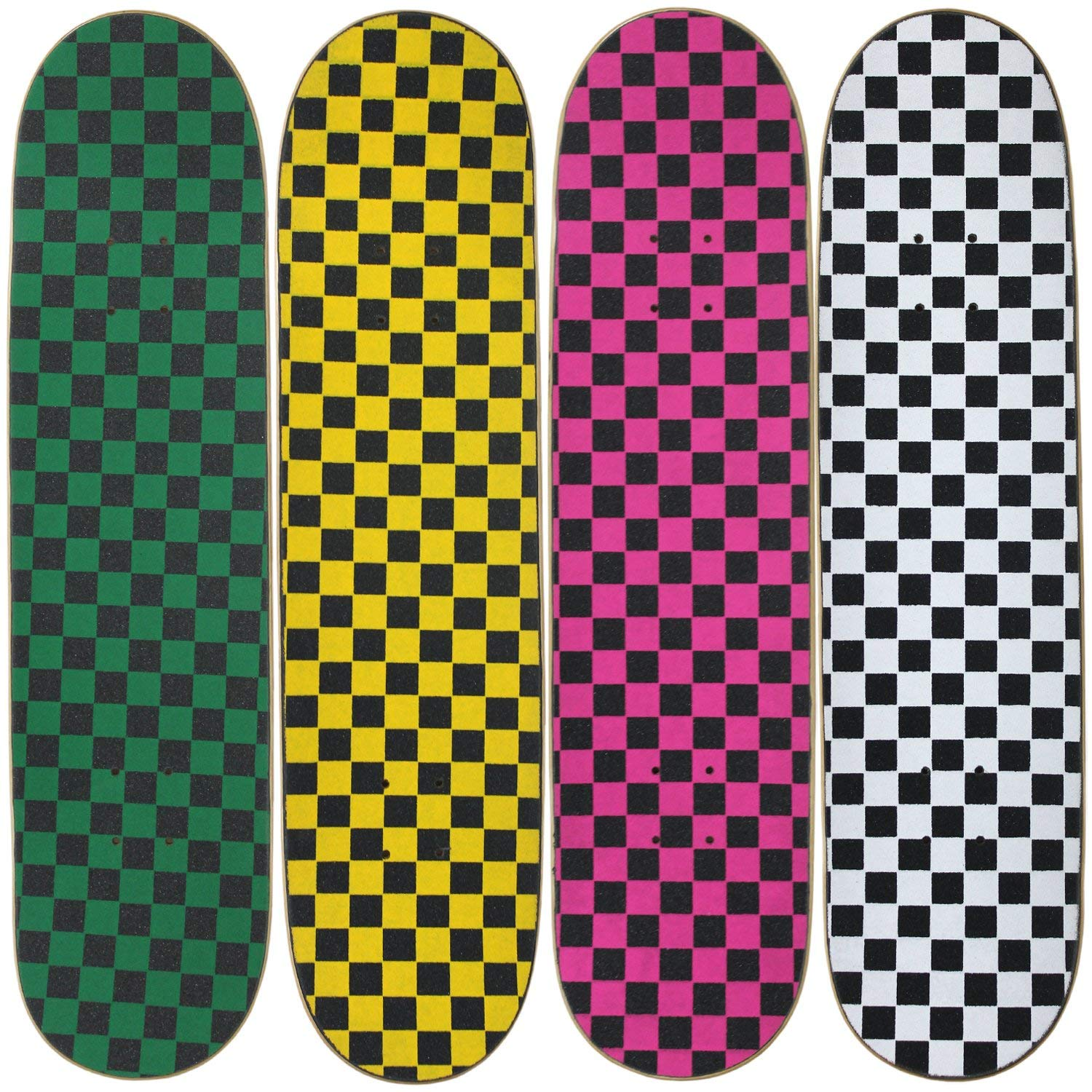 "Moose 4 Blank Skateboard Decks 8.0"" Natural Pre-Gripped Checkerboard BULK LOT"