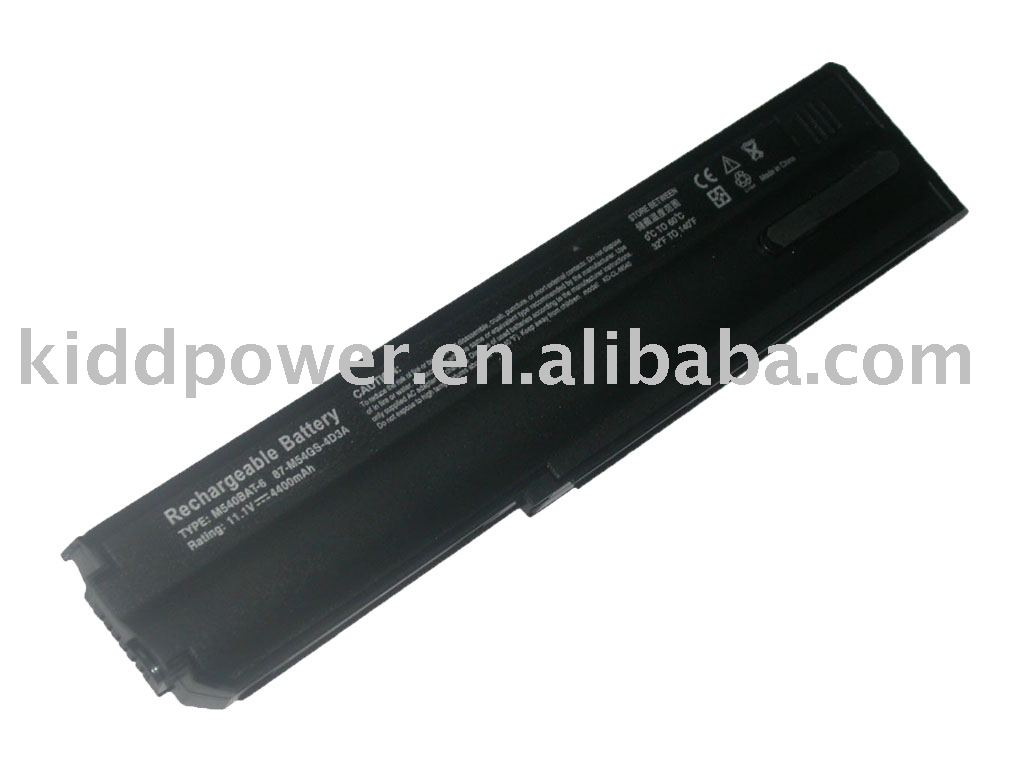 Replacement laptop top battery for M540 Founderpak S620N M540BAT-6 87-M54GS-4D3 laptop battery pack,notebook battery