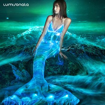 2017 New Led Light Up Swimwear Mermaid Carnival Costumes Mermaid