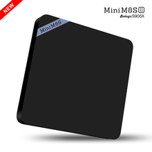 Hot Mini M8S II Smart TV Box 4K Amlogic S905X Quad Core Android 6.0 2.4GHz WiFi Kodi 16.1 2GB 8GB 64Bit Media Player