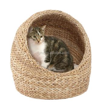 Hot Ing Natural Banana Leaf Cute Cat Bedding Warming House