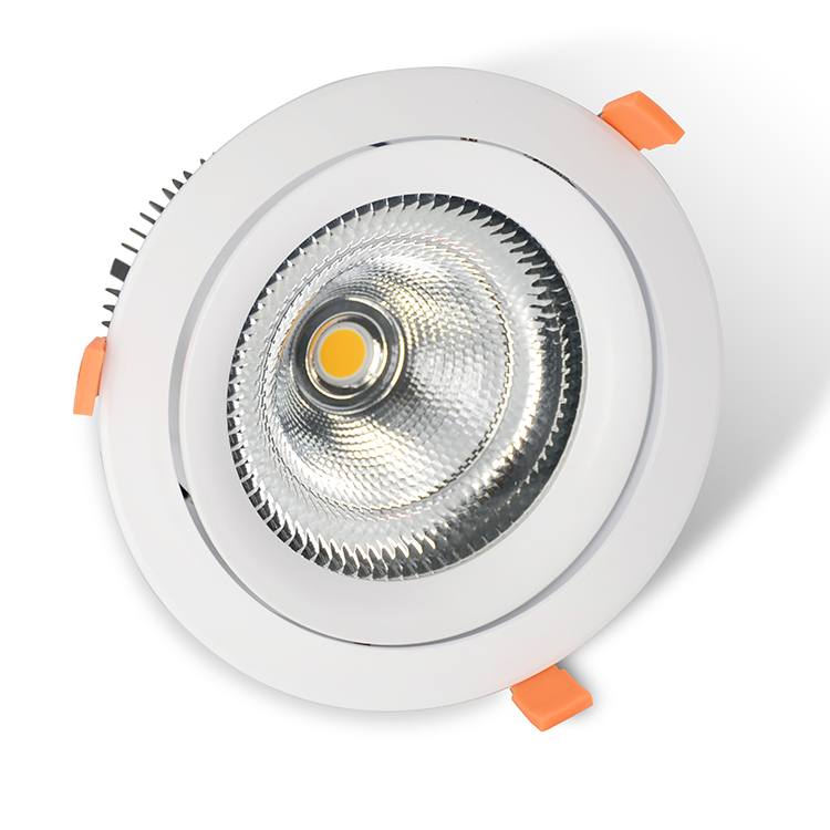 Factory Anti-glare Recessed light OEM Dimmable 50W adjustable COB LED <strong>Downlight</strong>
