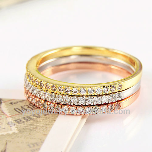 Factory wholesale fashion finger puzzle wedding ring for women