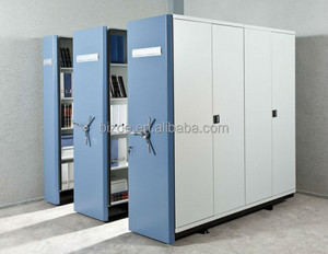 Library metal cole steel filing cabinets mobile shelving bulk file cabinet with sliding track