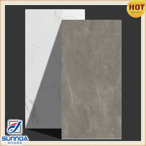 Carrara white marble culacatta concrete look porcelain full body glazed polished porcelain tiles