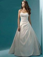 Vestidos De Novias Elegant New Stock US Size 2-22 White/Ivory Beading Sequined Strapless Satin A-Line Wedding Dress Bridal Gown