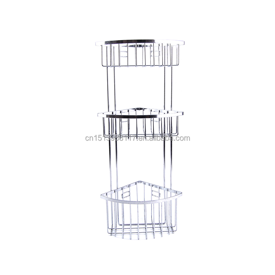 3 Tier Corner Shower Caddy With Suction