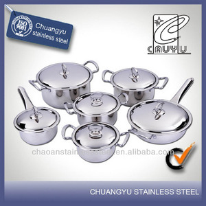 stainless steel capsule bottom silk printed cookware