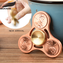 anti stress metal hand spinner hybrid Ceramic Bearing desk toy tri-spinner fidget spinner