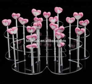 Acrylic Lollipop Cupcake Display Stand Holder (Pop 2-Tier 19 Holes) Tower Transparent Push-up Cake Holder