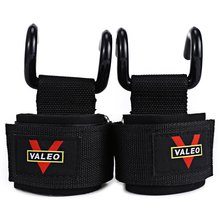1 Pair Dumbbell Steel Weight Lifting Power Clasps Grip Hook Support Straps Anti-skid Secure Grip with Coated Steel Hook