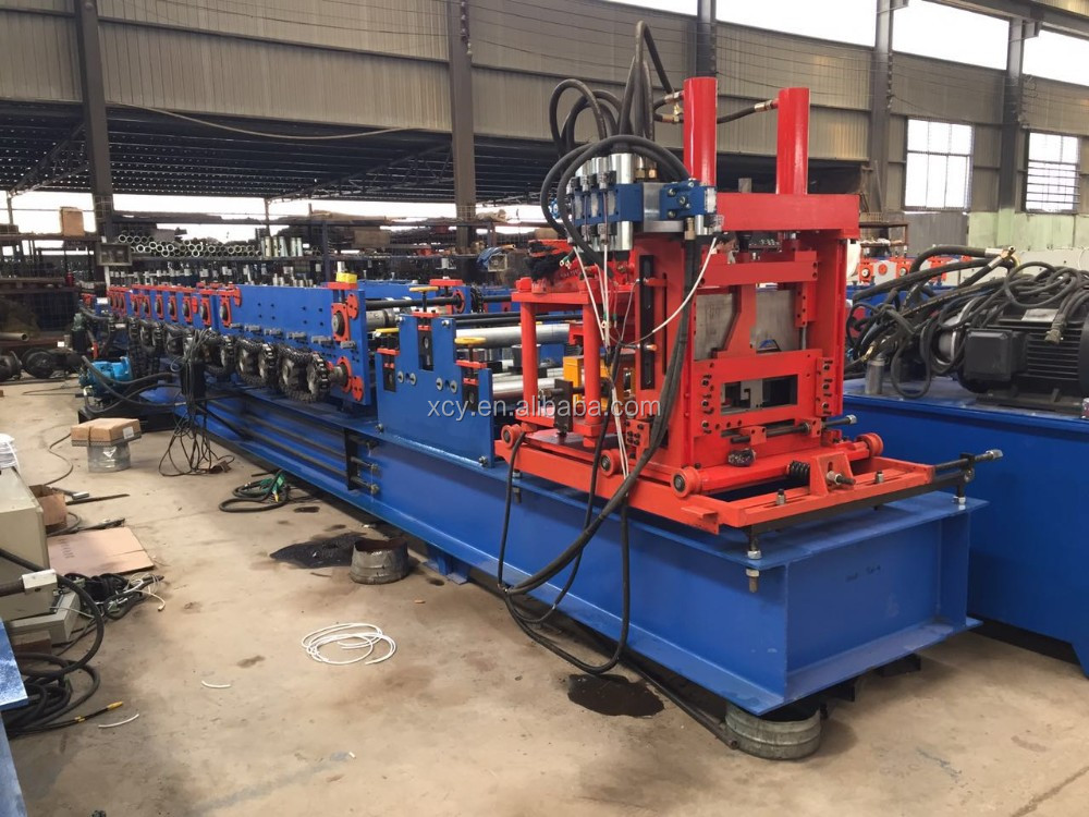 Popular c purlin metal stud light steel frame making machine