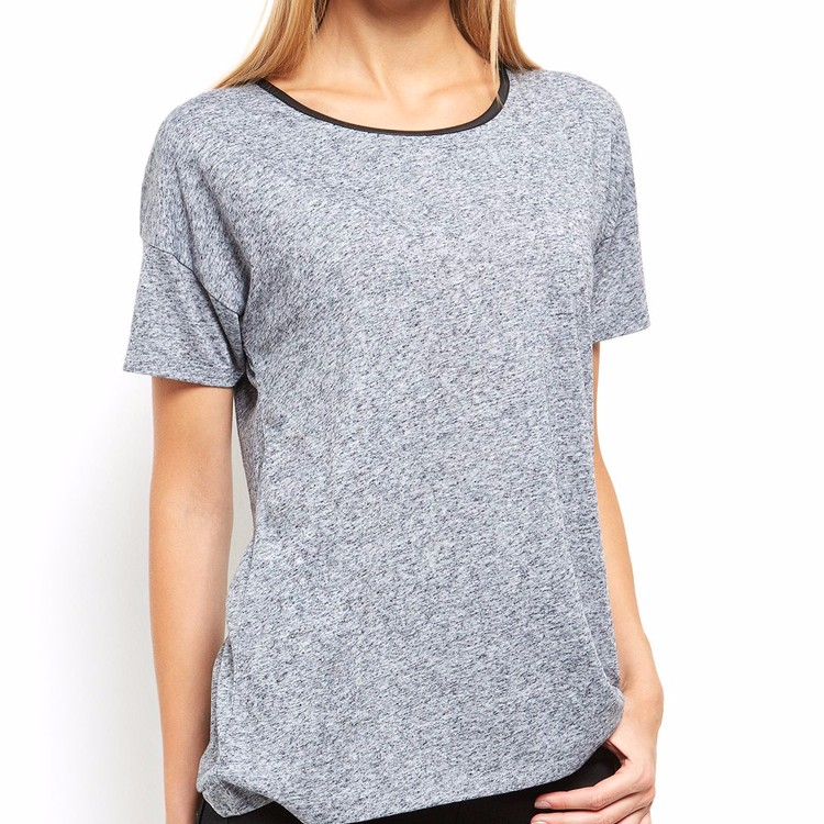 women fashion online clothing stores garage clothing gray sport causal t shirt