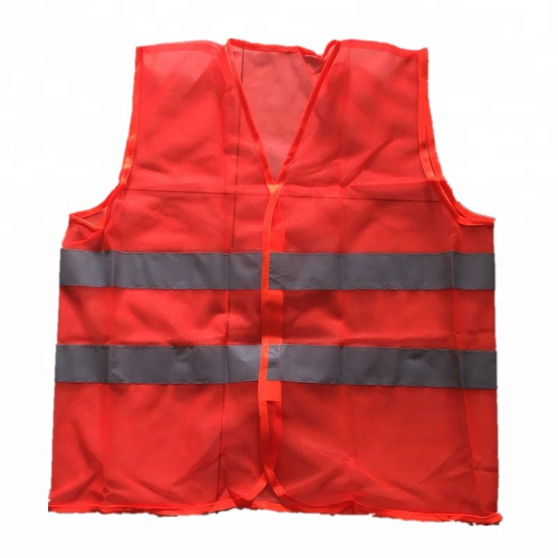 Lot of 10 Red Sleeve Reflection Fullback Vests Mixture of Colors Discount Vest