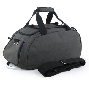 custom 3-Way outdoor Travel Duffel Backpack Gym Sports Bag with Shoe Compartment